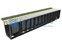 Арт. 0802sport Комплект Gidrolica Sport: лоток водоотводный ЛВ-10.14,5.18,5 пластиковый с решеткой