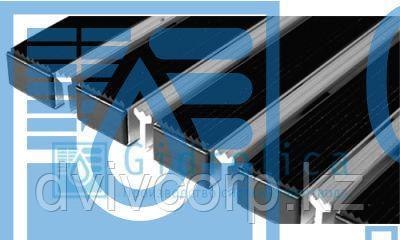 Придверная решетка Евро широкий скребок+резина