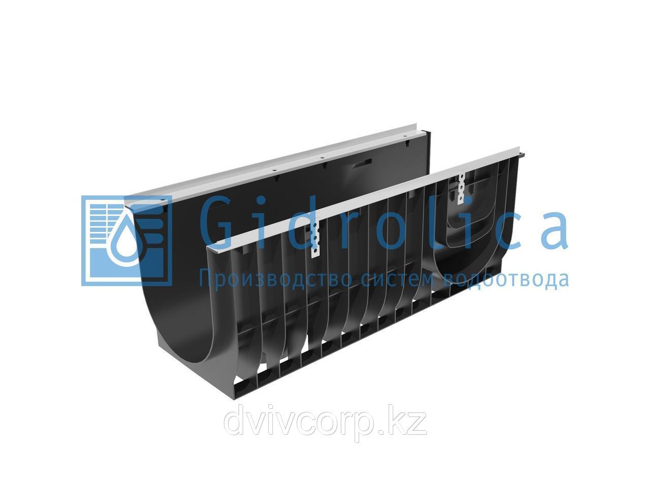 Арт. 0830 Лоток водоотводный Gidrolica Super ЛВ -30.38.39,6 - пластиковый, кл. Е600
