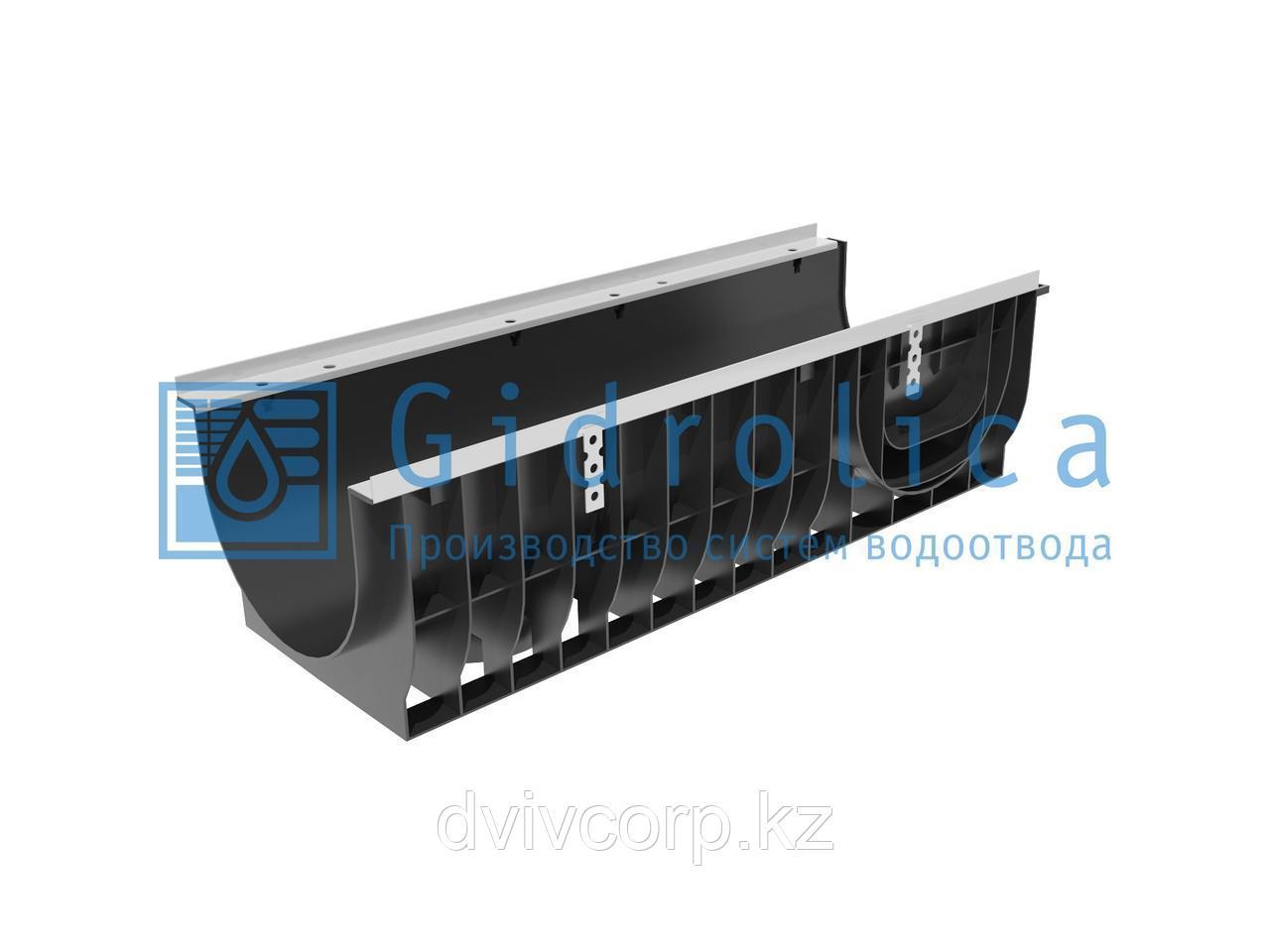 Арт. 0832 Лоток водоотводный Gidrolica Super ЛВ-30.38.29,6 - пластиковый, кл. Е600