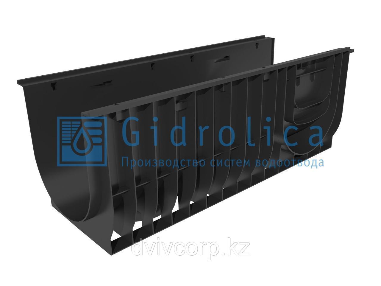 Арт. 830 Лоток водоотводный Gidrolica Standart ЛВ-30.38.38 - пластиковый