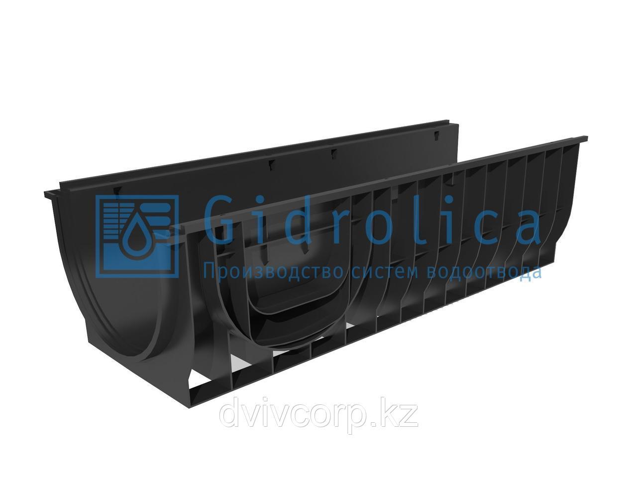 Арт. 832 Лоток водоотводный Gidrolica Standart ЛВ-30.38.28 - пластиковый