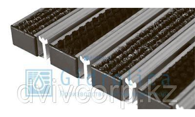 Придверная решетка Gidrolica Step - текстиль+щетка+скребок 390х590мм
