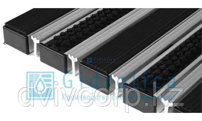Придверная решетка Евро широкий скребок+резина+щётка 390х590