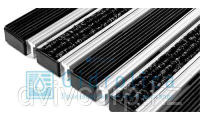 Придверная решетка Евро широкий скребок+резина+текстиль 390х590