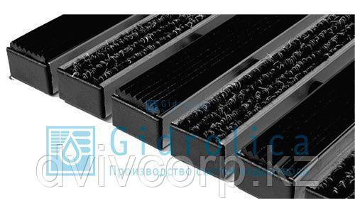 Арт. 30012 Придверная решетка Gidrolica Step - резина+текстиль 390х590мм