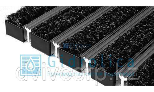 Придверная решетка Gidrolica Step - текстиль+скребок 390х590мм