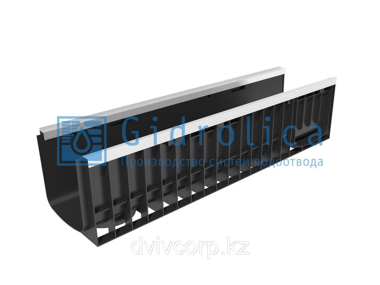 Арт. 8224 Лоток водоотводный Gidrolica Standart Plus ЛВ-20.24,6.23,5 - пластиковый (усиленный)