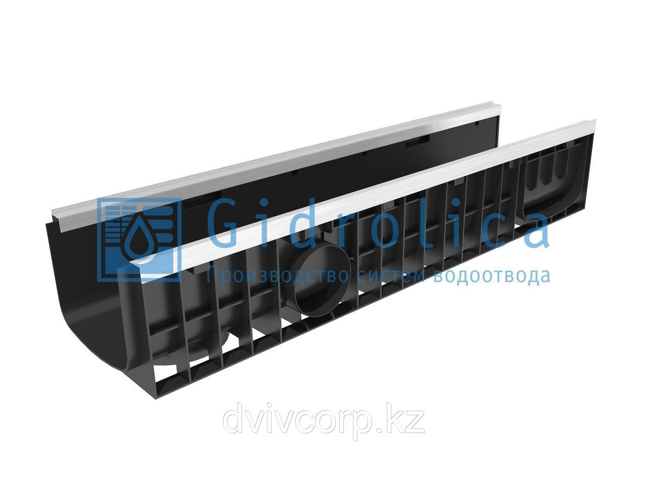 Арт. 8204 Лоток водоотводный Gidrolica Standart Plus ЛВ-20.24,6.18,5 - пластиковый (усиленный)