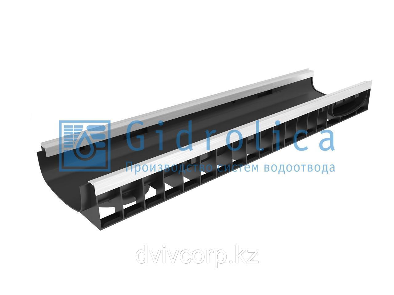 Арт. 8214 Лоток водоотводный Gidrolica Standart Plus ЛВ-20.24,6.10 - пластиковый (усиленный)