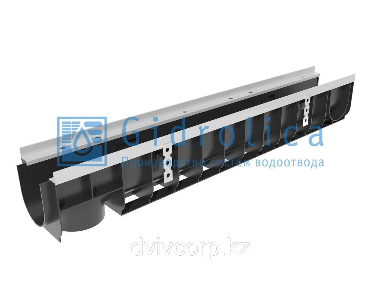 Арт. 0800 Лоток водоотводный Gidrolica Super ЛВ -10.14,5.15,5 - пластиковый, кл. Е600