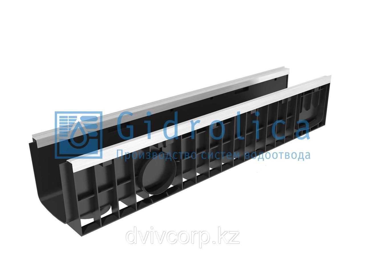 Арт. 8164 Лоток водоотводный Gidrolica Standart Plus ЛВ-15.19,6.18,5 - пластиковый (усиленный)