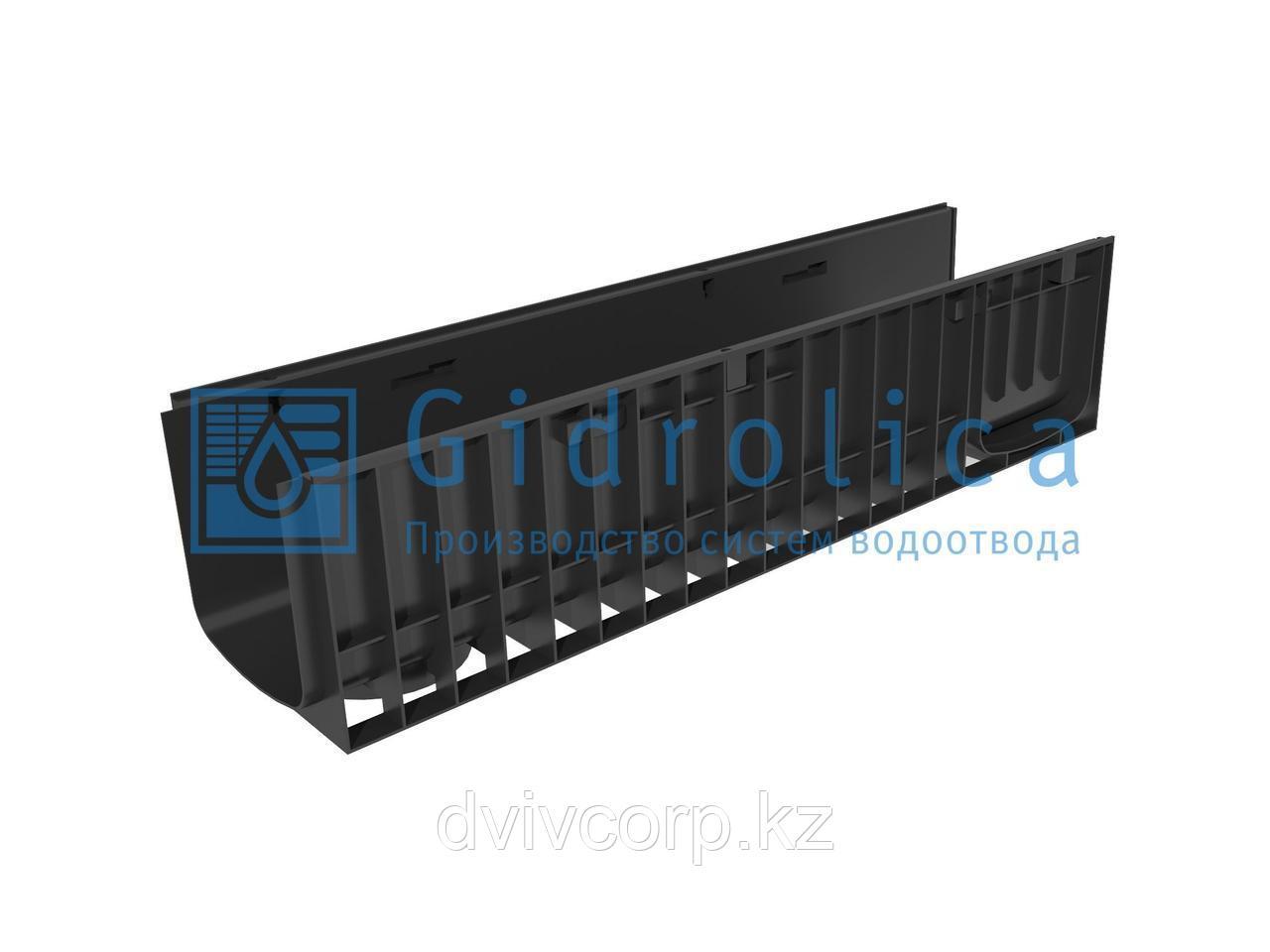 Арт. 822 Лоток водоотводный Gidrolica Standart ЛВ-20.24,6.23,5 - пластиковый