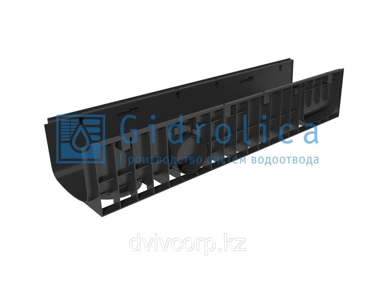 Арт. 820 Лоток водоотводный Gidrolica Standart ЛВ-20.24,6.18,5 - пластиковый