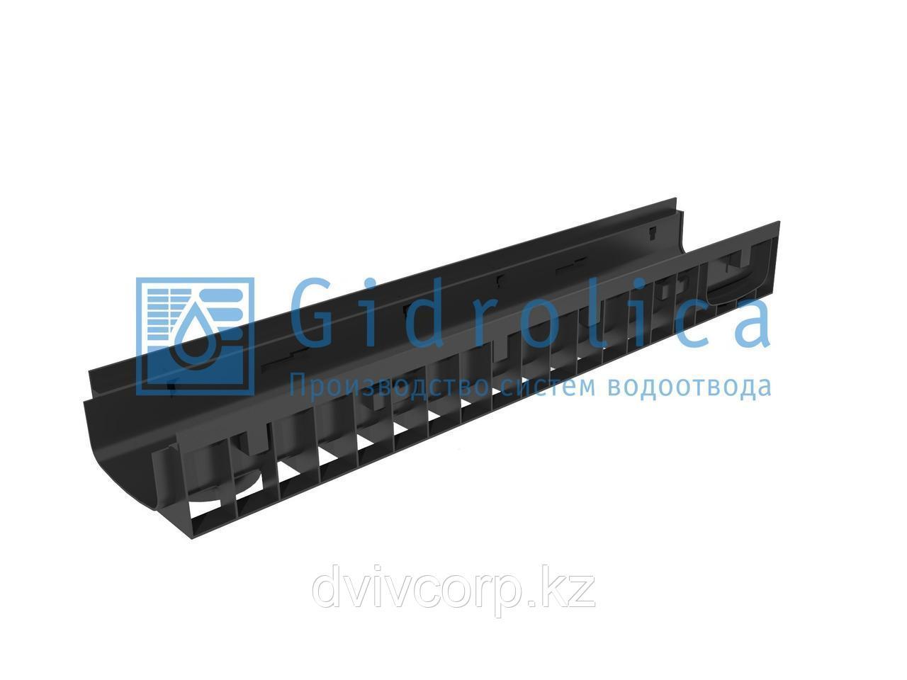 Арт. 815pro Лоток водоотводный Gidrolica Pro ЛВ-15.19,6.11,7 - пластиковый