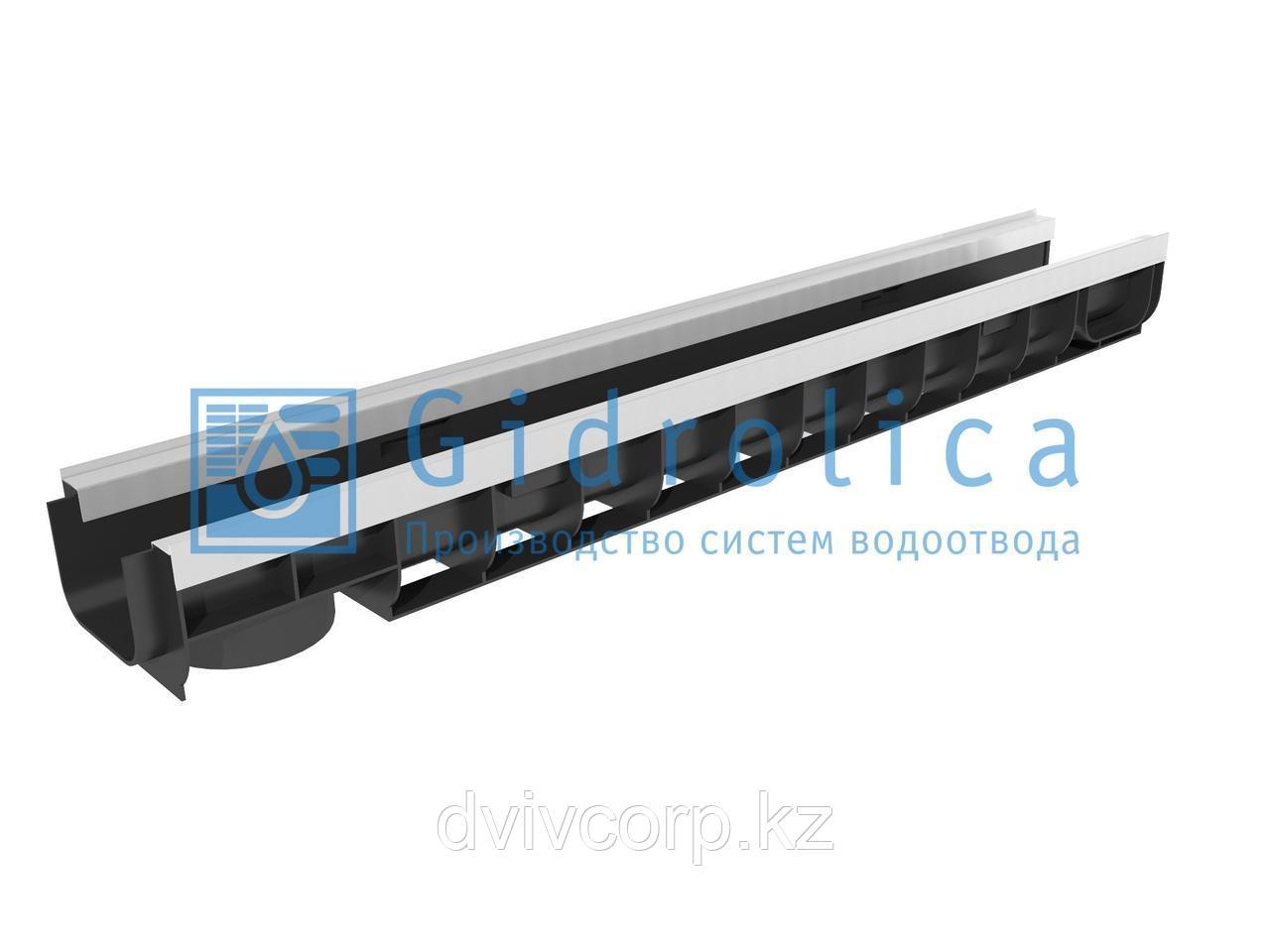 Арт. 8044 Лоток водоотводный Gidrolica Standart Plus ЛВ-10.14,5.10 - пластиковый (усиленный)