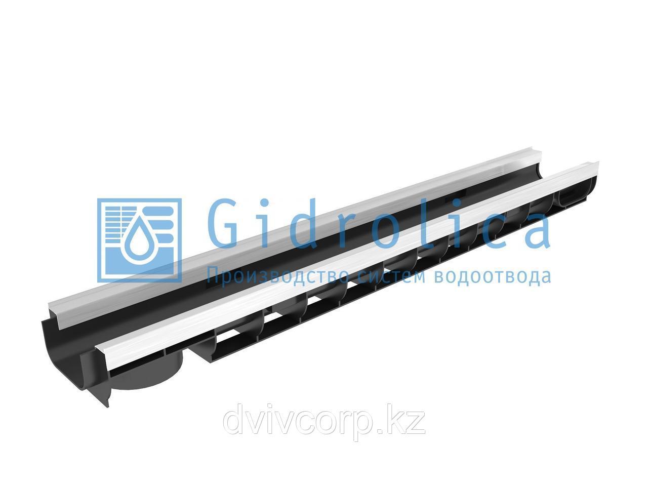 Арт. 8034 Лоток водоотводный Gidrolica Standart Plus ЛВ-10.14,5.08 - пластиковый (усиленный)