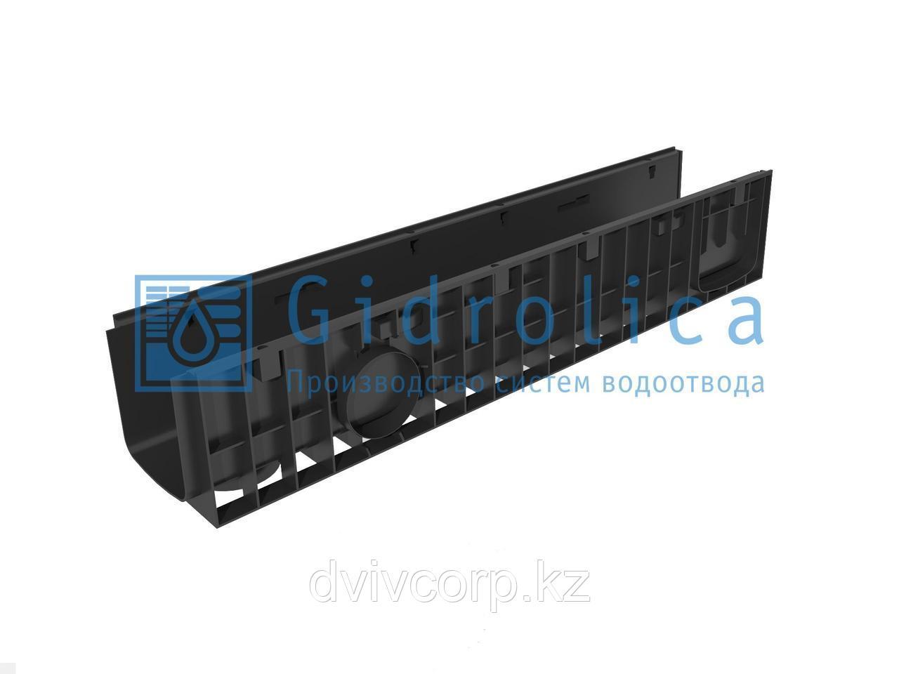 Арт. 816 Лоток водоотводный Gidrolica Standart ЛВ-15.19,6.18,5 - пластиковый
