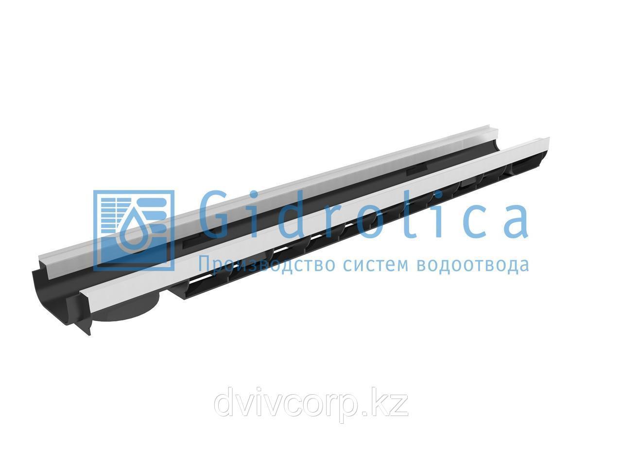 Арт. 8054 Лоток водоотводный Gidrolica Standart Plus ЛВ-10.14,5.06 - пластиковый (усиленный)