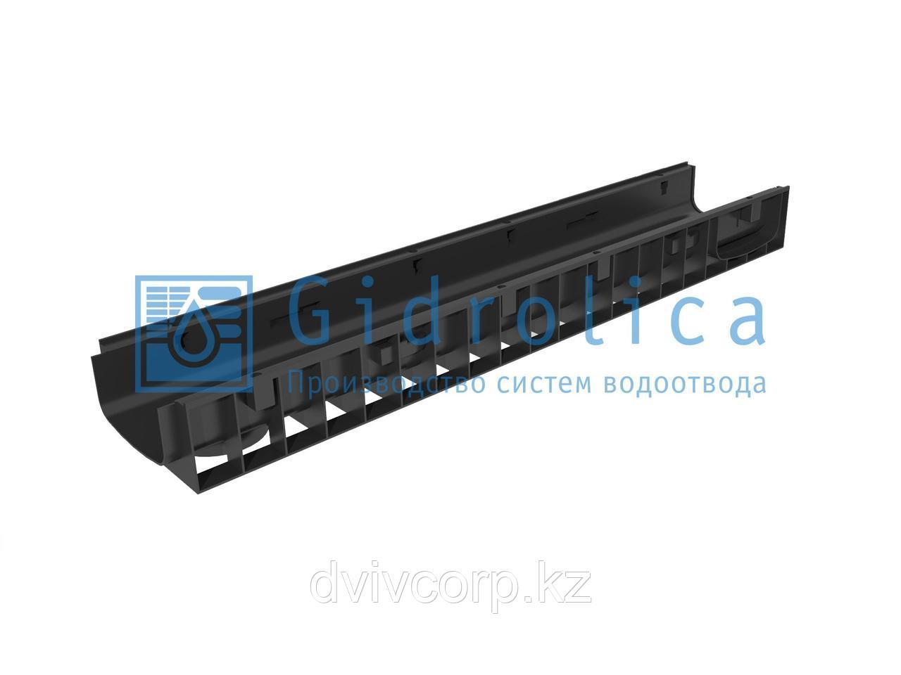 Арт. 815 Лоток водоотводный Gidrolica Standart ЛВ-15.19,6.10 - пластиковый