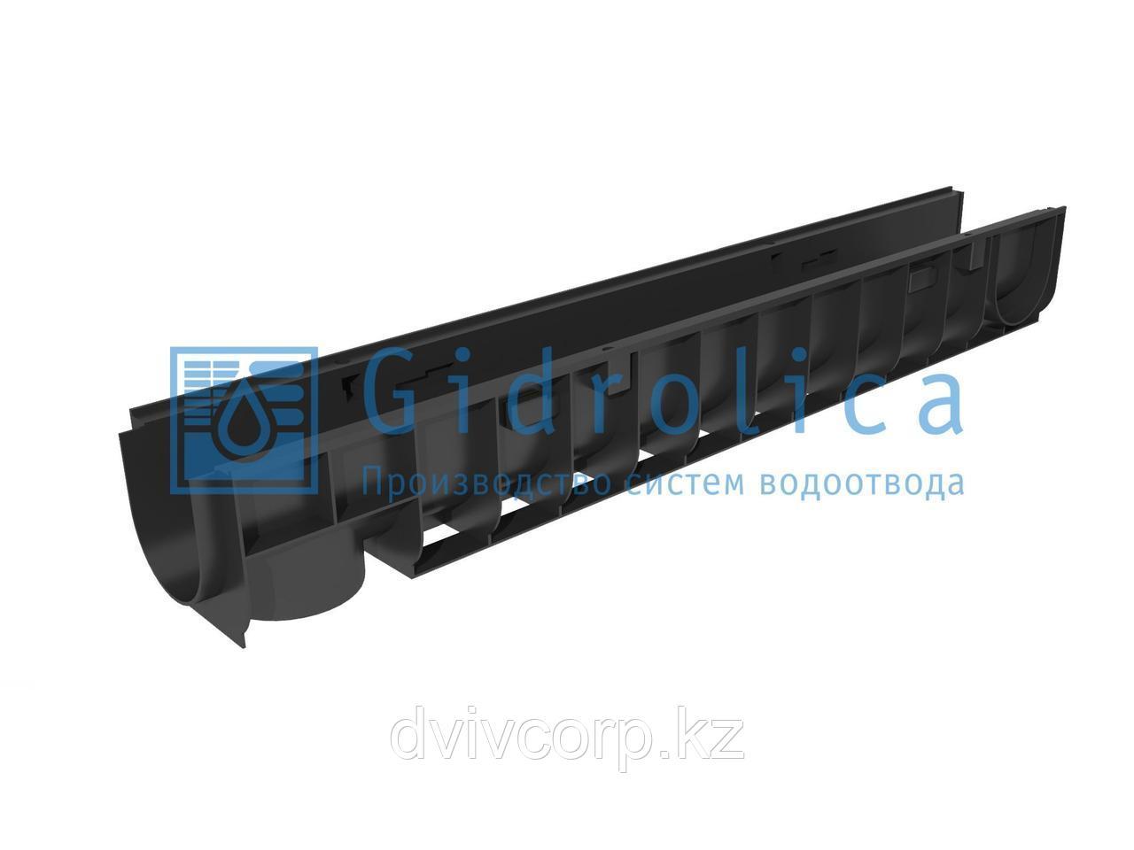 Арт. 800 Лоток водоотводный Gidrolica Standart ЛВ-10.14,5.13,5 - пластиковый