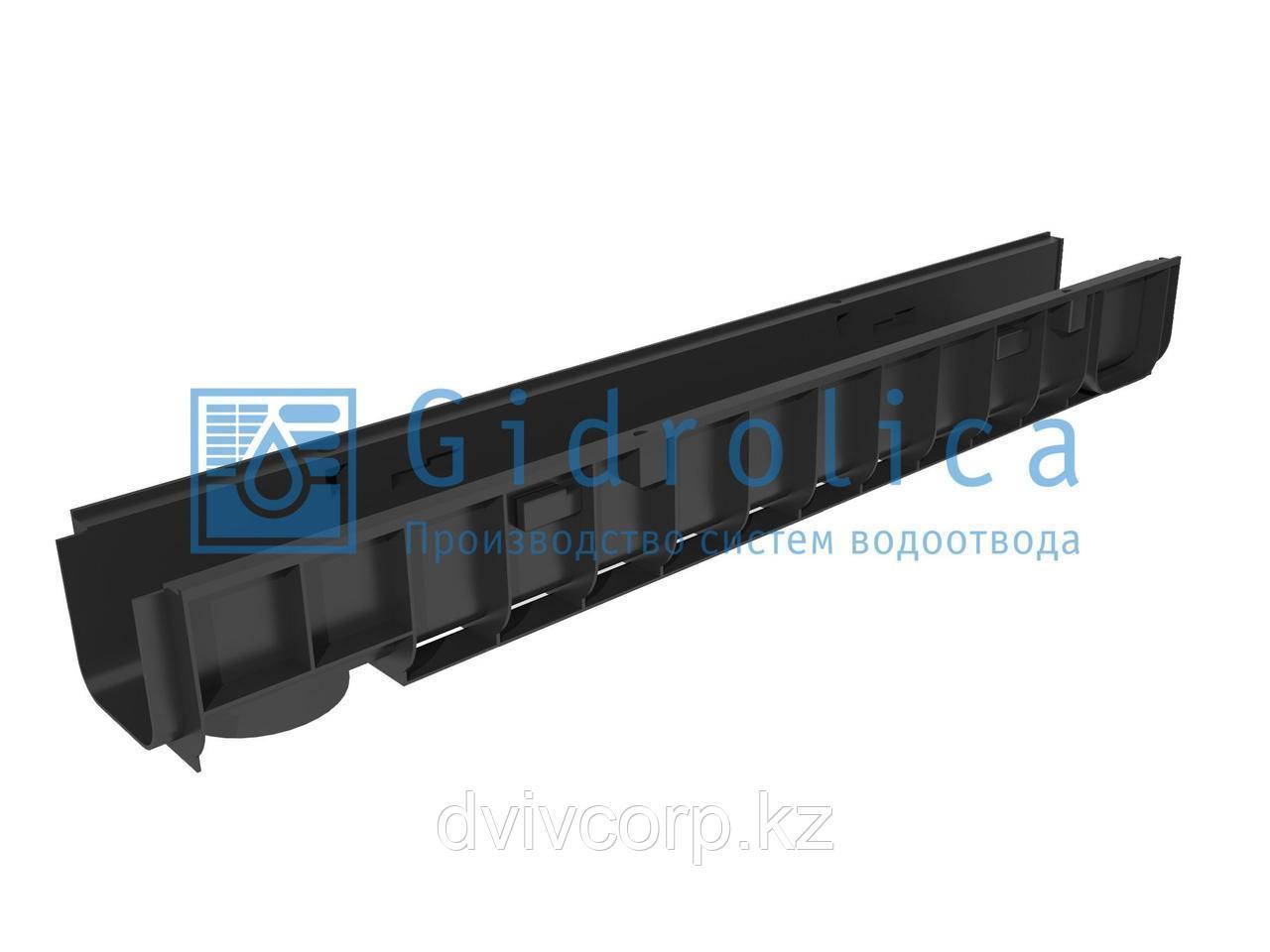 Арт. 801 Лоток водоотводный Gidrolica Standart ЛВ-10.14,5.12 - пластиковый