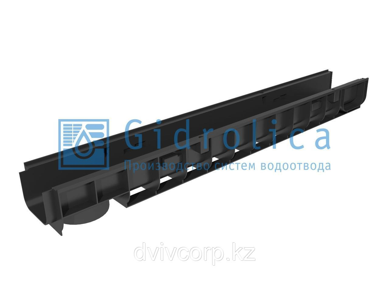 Арт. 804 Лоток водоотводный Gidrolica Standart ЛВ-10.14,5.10 - пластиковый