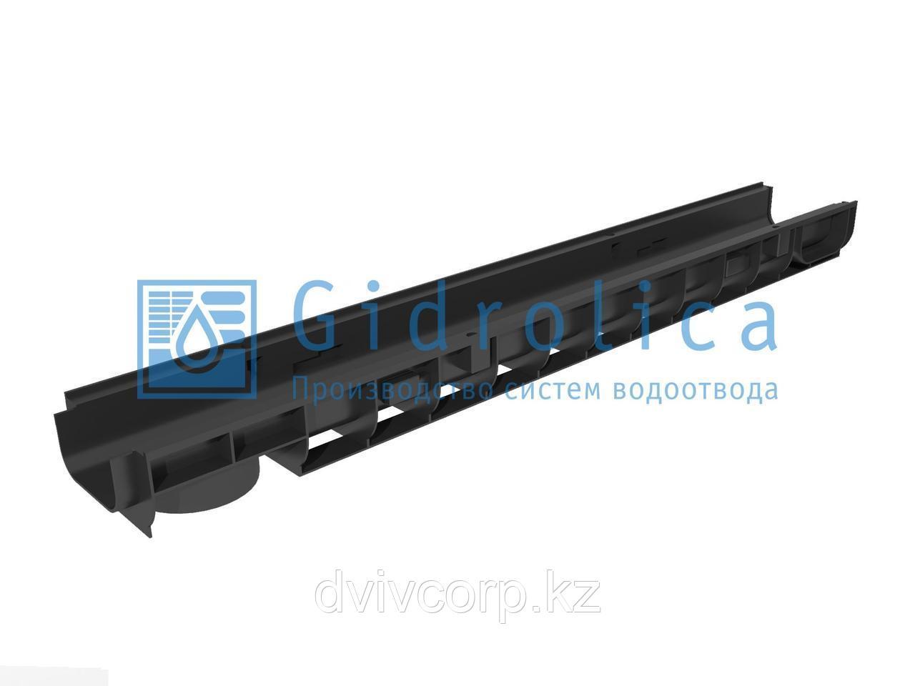 Арт. 803 Лоток водоотводный Gidrolica Standart ЛВ-10.14,5.08 - пластиковый