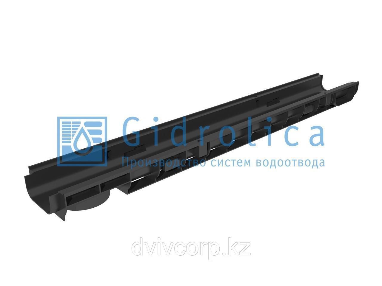 Арт. 805 Лоток водоотводный Gidrolica Standart ЛВ-10.14,5.06 - пластиковый