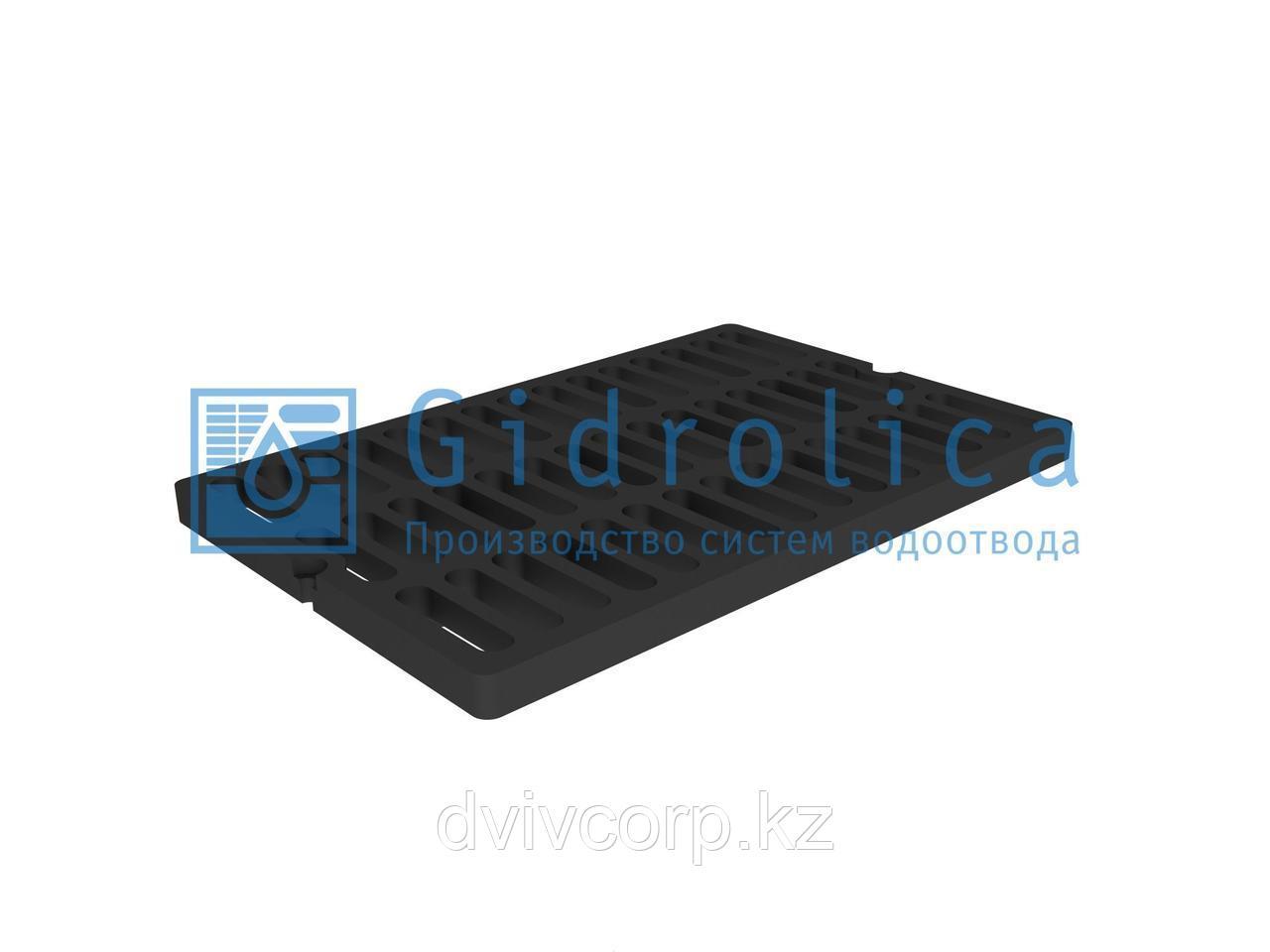 Арт. 5073D Решетка водоприемная СЧ 750*500*27 – чугунная, кл. D400