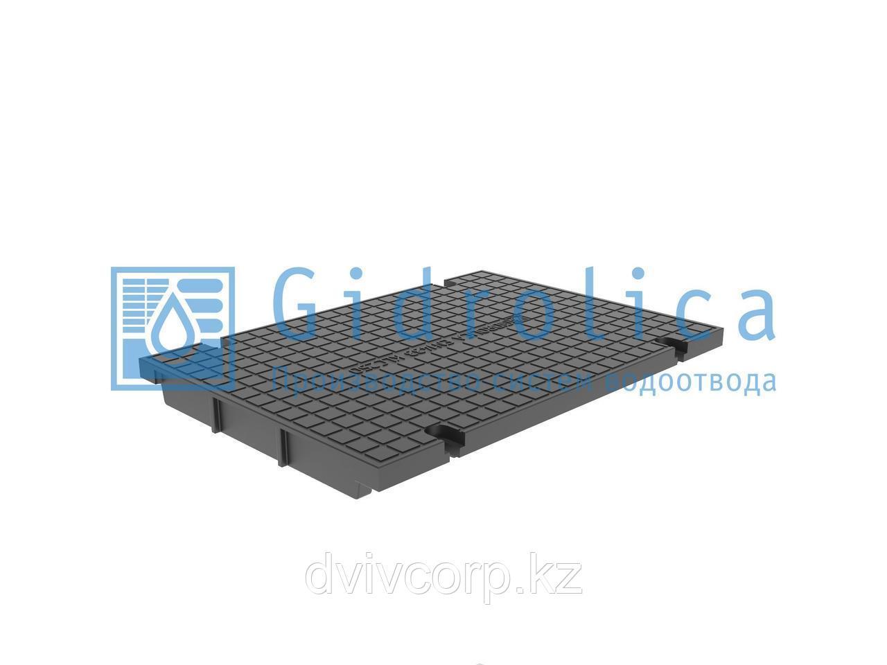Арт. 536 Глухая крышка для лотка водоотводного Gidrolica Pro КЛ-30.35,8.50 - пластиковая, кл. С250