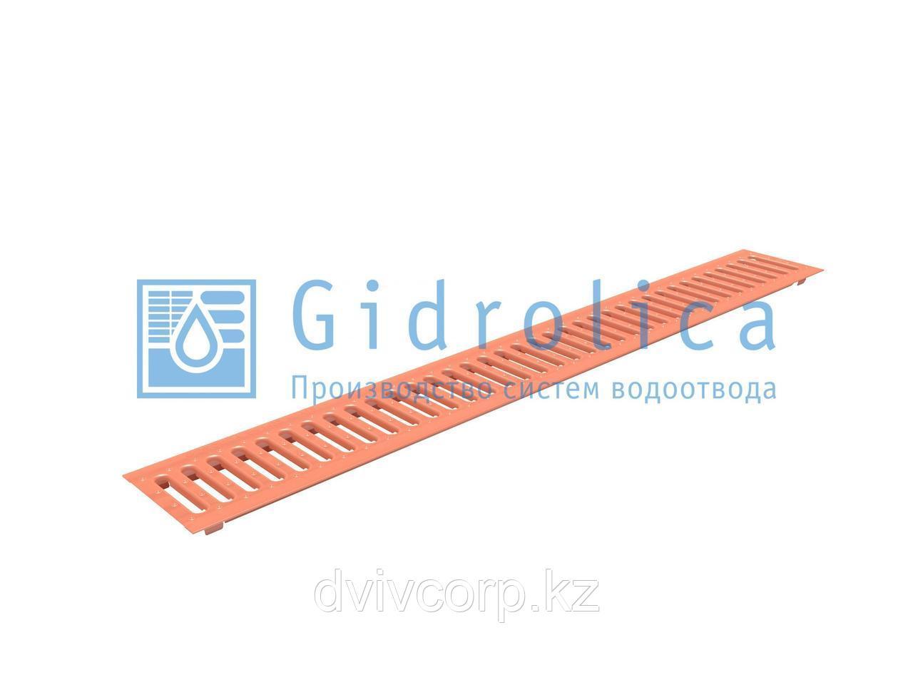Арт. 502 Решетка водоприемная Gidrolica Standart РВ -10.13,6.100 - штампованная медная, кл. А15