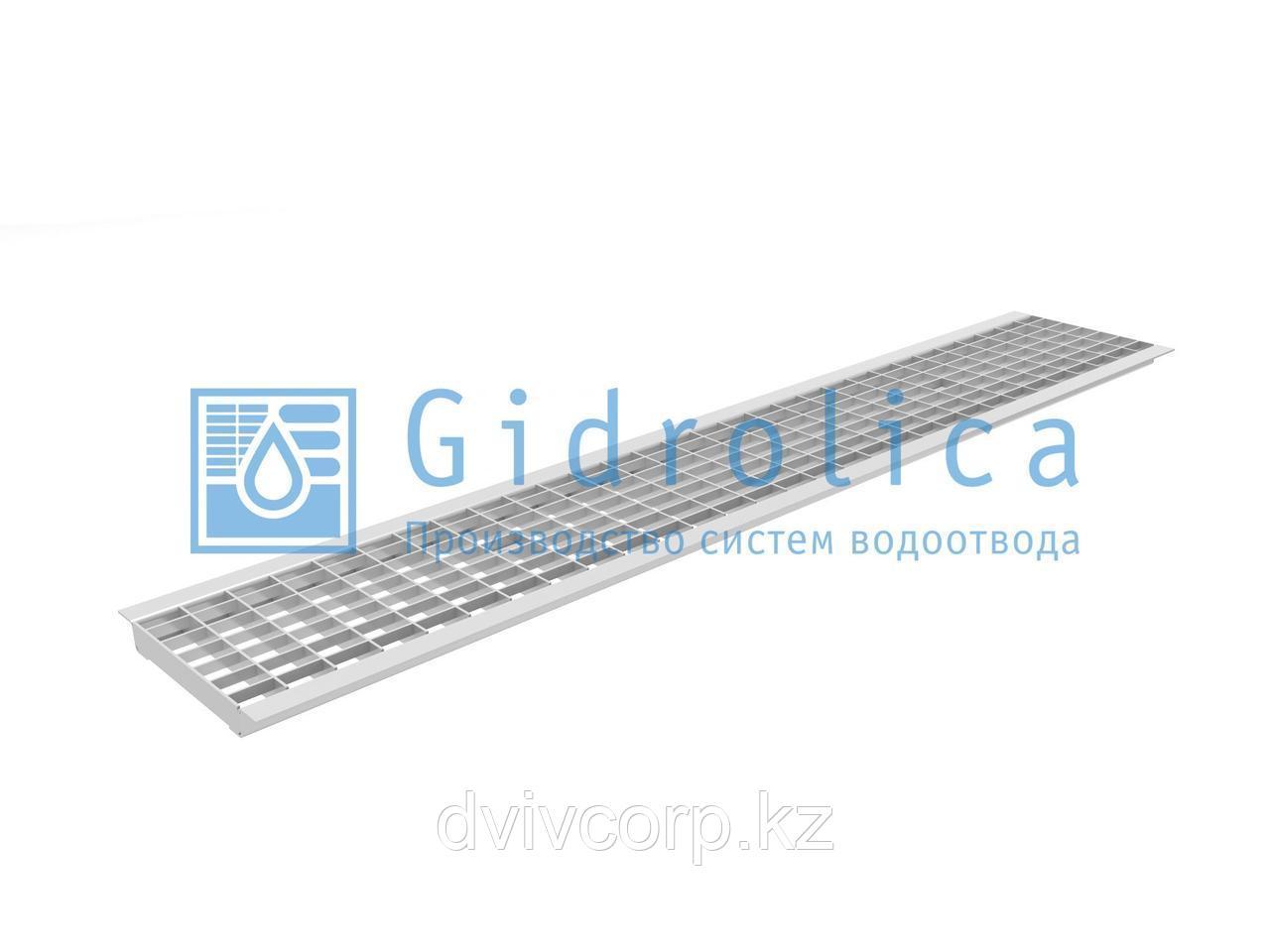 Арт. 511 Решетка водоприемная Gidrolica Standart РВ -15.18,7.100 - ячеистая стальная оцинкованная, кл. В125