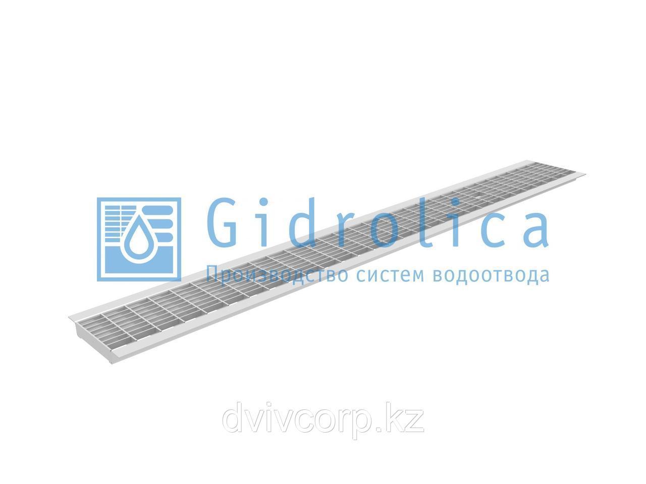 Арт. 501 Решетка водоприемная Gidrolica Standart РВ -10.13,6.100 - ячеистая стальная оцинкованная, кл. В125