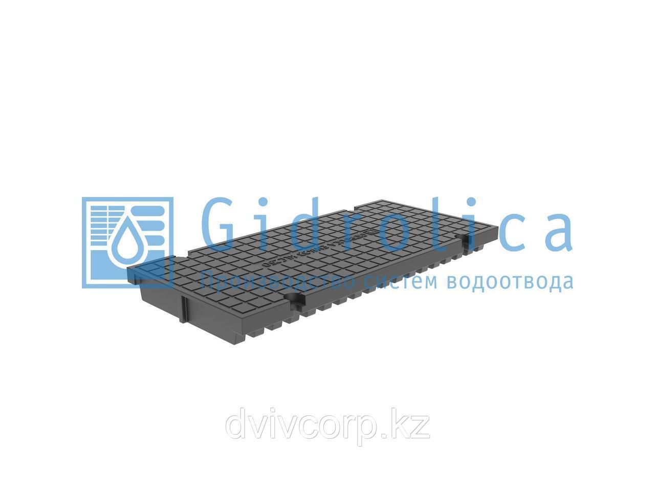 Арт. 526 Глухая крышка для лотка водоотводного Gidrolica Pro КЛ-20.23,8.50 - пластиковая, кл. С250