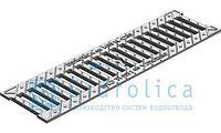 Арт. 5065 Решетка водоприемная Gidrolica Standart РВ -10.13,6.50 - щелевая чугунная ВЧ оцинкованная, кл. С250
