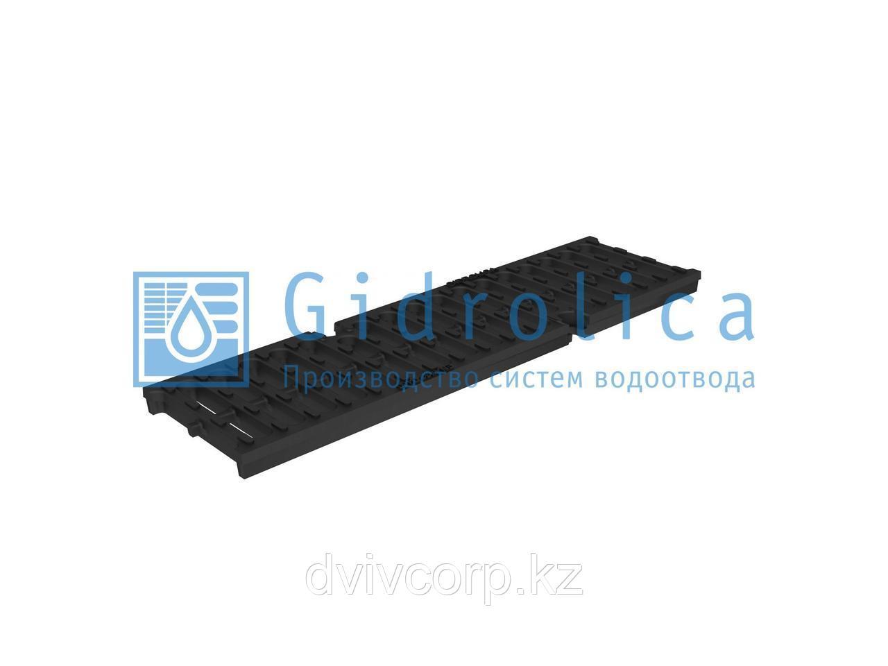 Арт. 50109D Решетка водоприемная Gidrolica Super РВ -10.14.50 - щелевая чугунная ВЧ, кл. D400