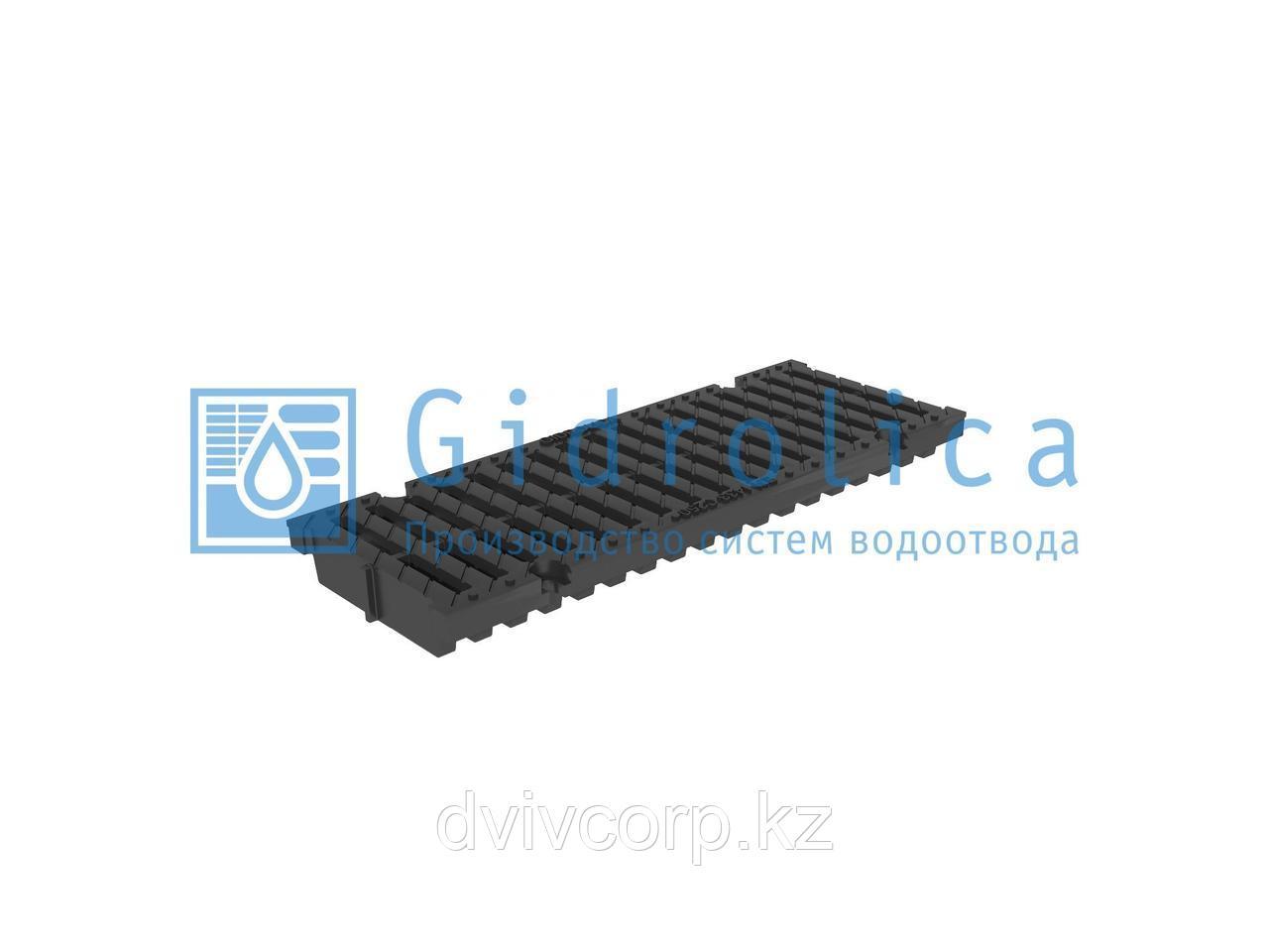 Арт. 512 Решетка водоприемная Gidrolica Pro РВ -15.18,8.50 - щелевая пластиковая, кл. С250