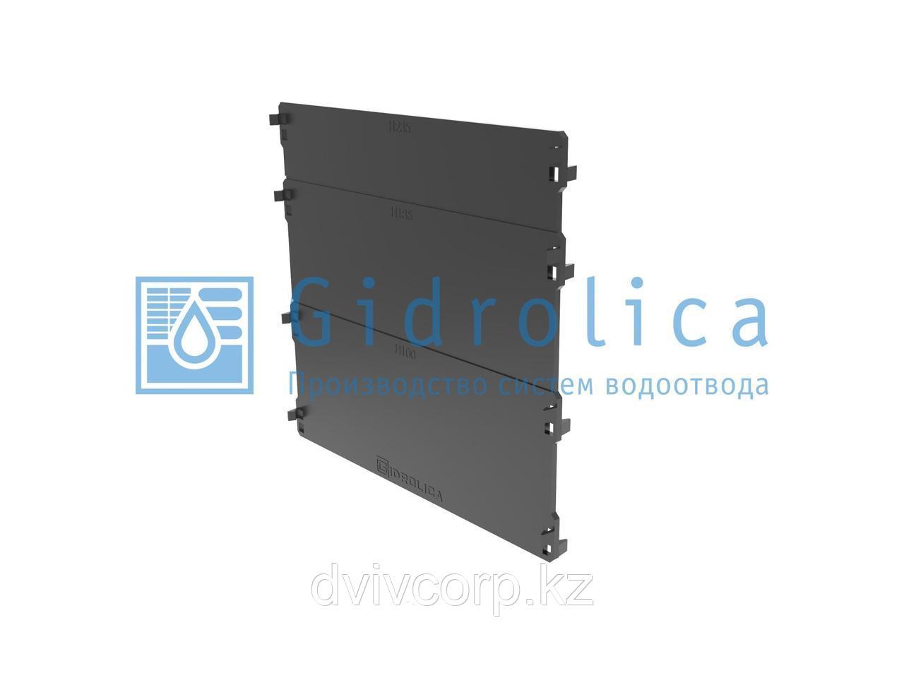 Арт. 18201 Торцевая заглушка для лотка водоотводного Gidrolica Standart/Standart Plus, пластиковая
