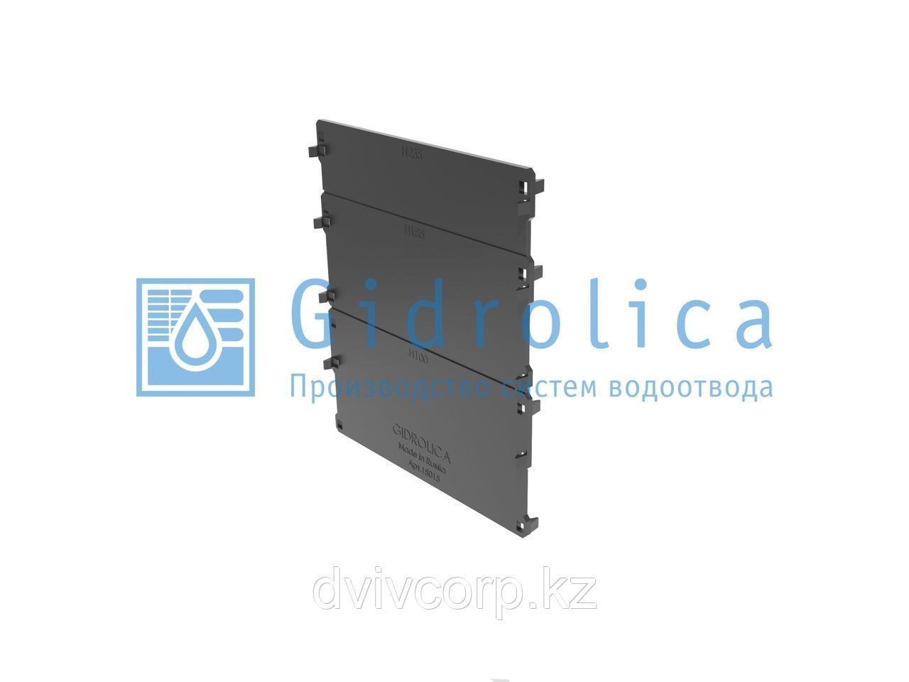 Арт. 18151 Торцевая заглушка для лотка водоотводного Gidrolica Standart DN150 - пластиковая