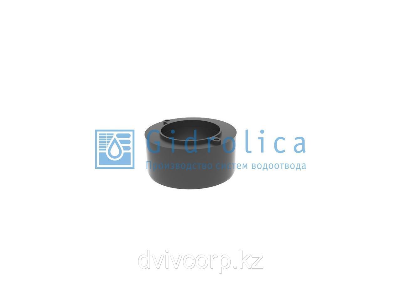 Арт. 18062 Переходник для лотка водоотводного Gidrolica Light, пластиковый