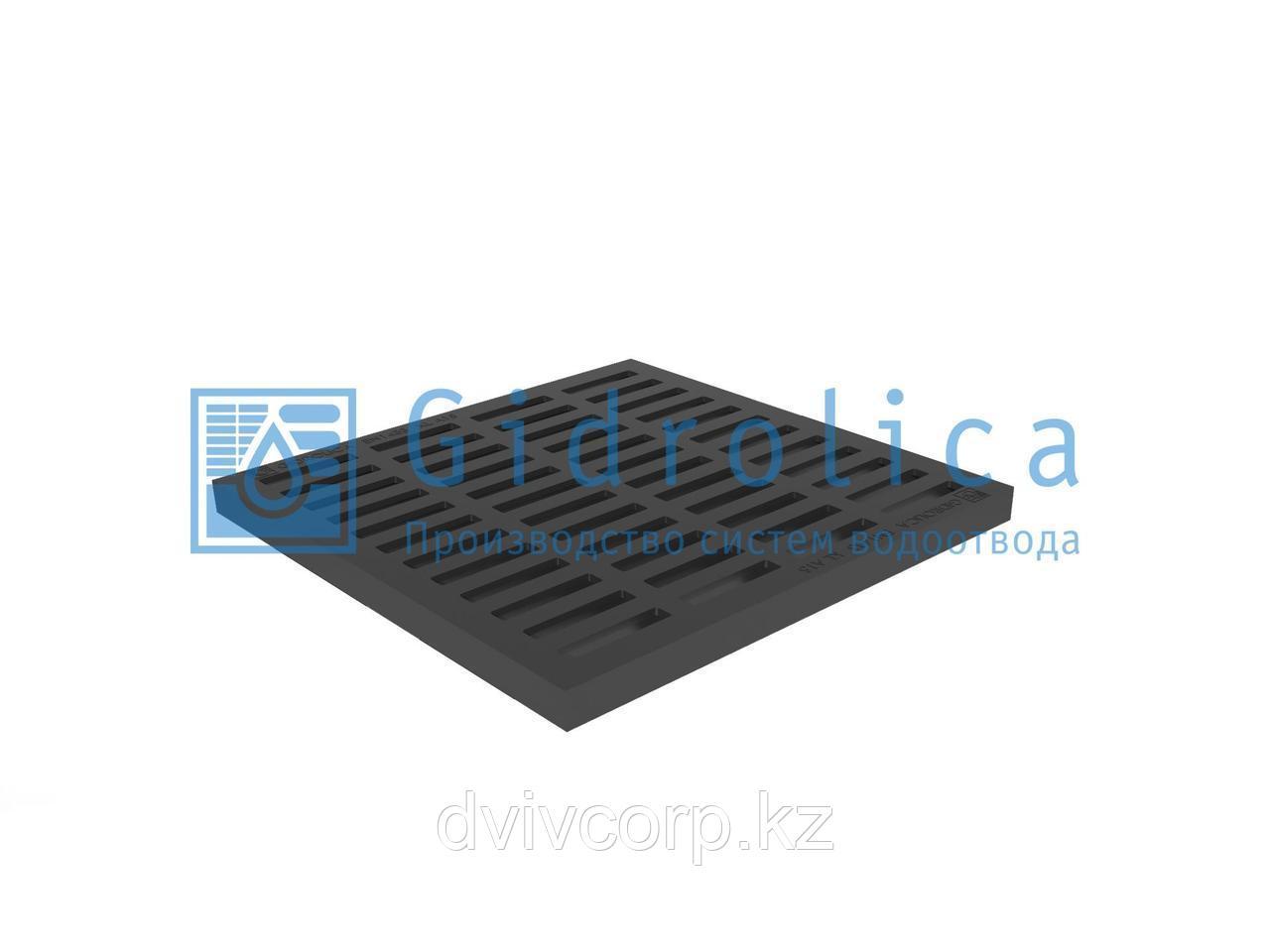 Арт. 207 Решетка водоприемная Gidrolica Point РВ-40.40 - пластиковая, кл. А15