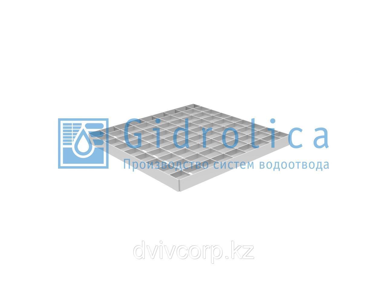 Арт. 206 Решетка водоприемная Gidrolica Point РВ-28,5.28,5 - ячеистая стальная оцинкованная, кл. В125