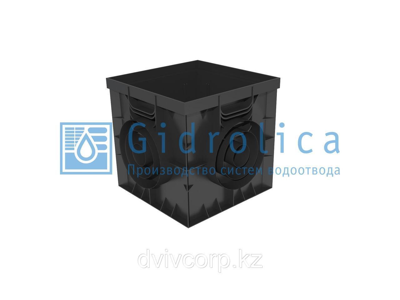 Арт. 229u Дождеприемник Gidrolica Point ДП-30.30 - пластиковый универсальный