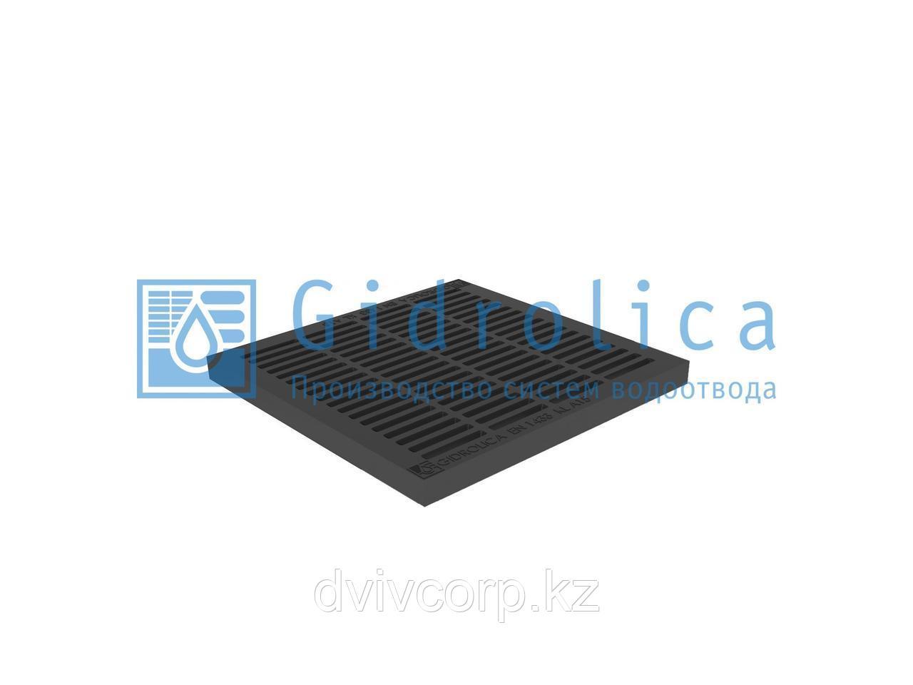 Арт. 208 Решетка водоприемная Gidrolica Point РВ-28,5.28,5 - пластиковая, кл. А15