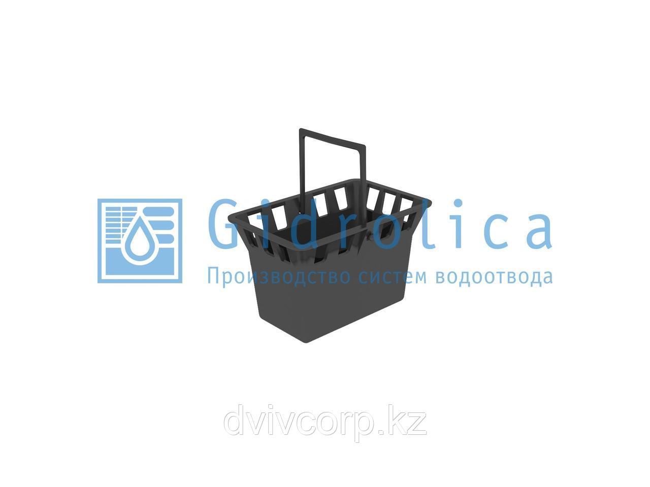 Арт. 215 Корзина для дождеприемника Gidrolica Point 30.30 - пластиковая