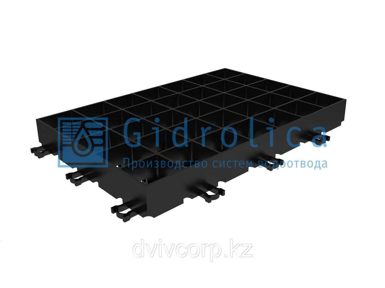 Арт. 602 Газонная Решетка Gidrolica Eco Super РГ-60.40.6,4 - пластиковая черная