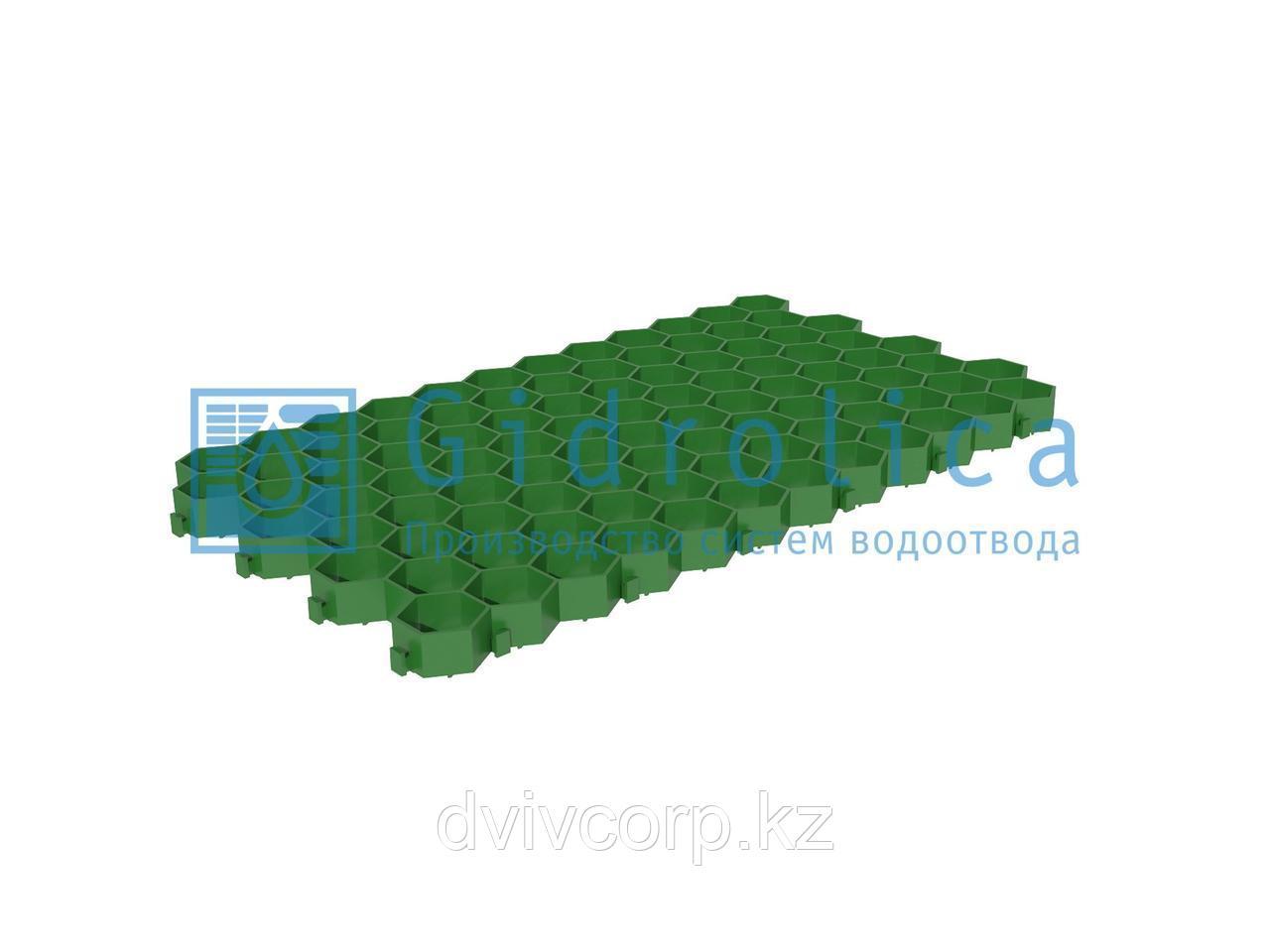 Арт. 607 Решетка газонная Gidrolica Eco Standart РГ-70.40.3,2 - пластиковая зеленая