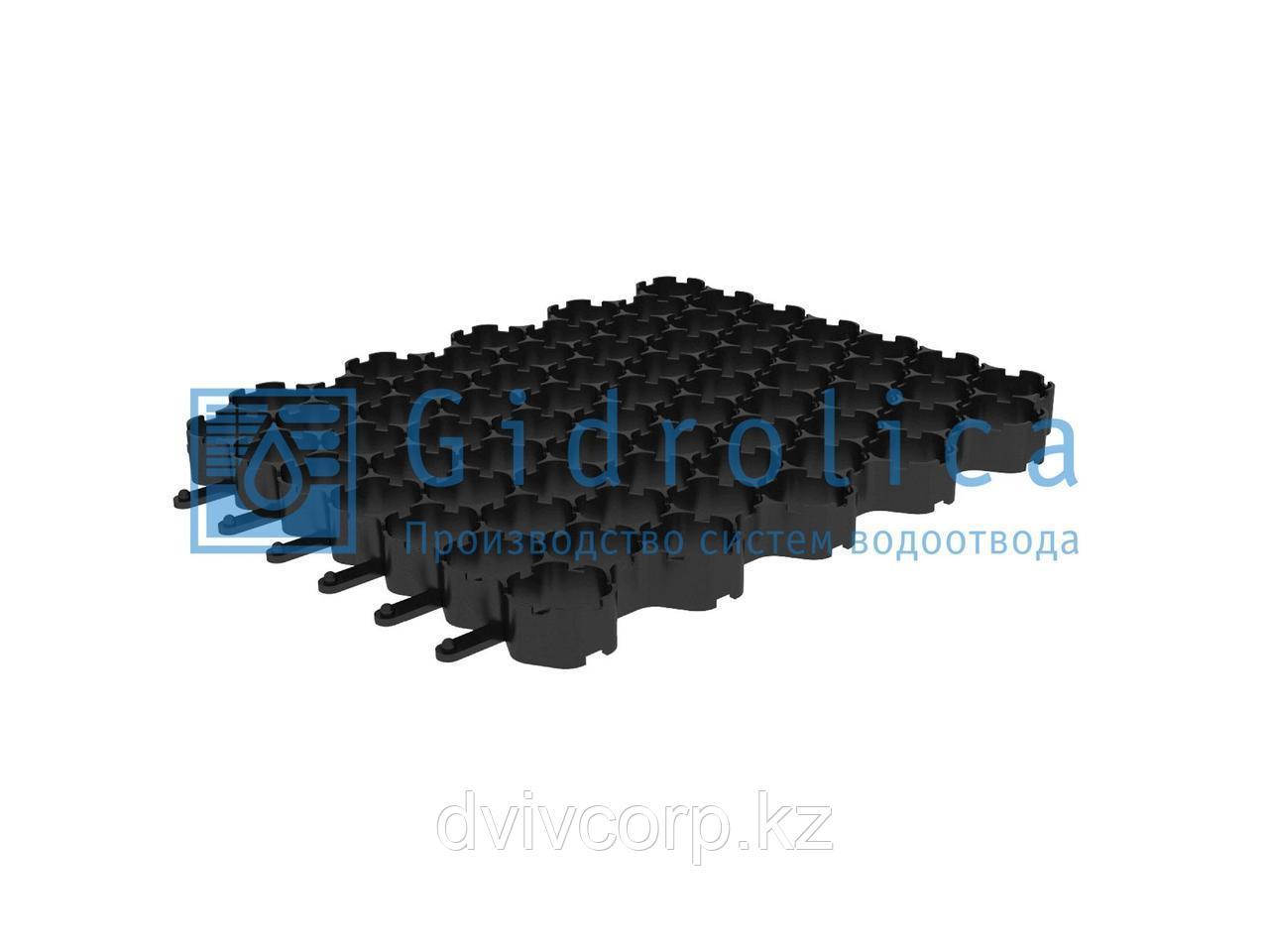 Арт. 610 Решетка газонная Gidrolica Eco Normal РГ-53.43.3,5 - пластиковая черная