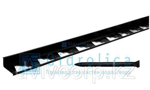 Арт. 7312 Бордюр Gidrolica Line Б-300.8,5.4.5 - пластиковый черный L3000